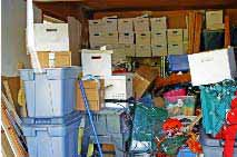 Garage that needs clearing
