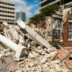 Builder waste pile