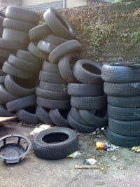 Tyre to be recycled and collected
